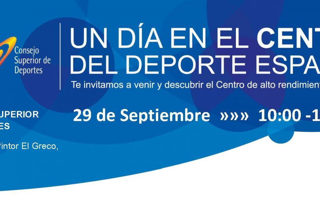 Jornada de puertas abiertas en el Centro de Alto Rendimiento de Madrid – 29 Septiembre 2018