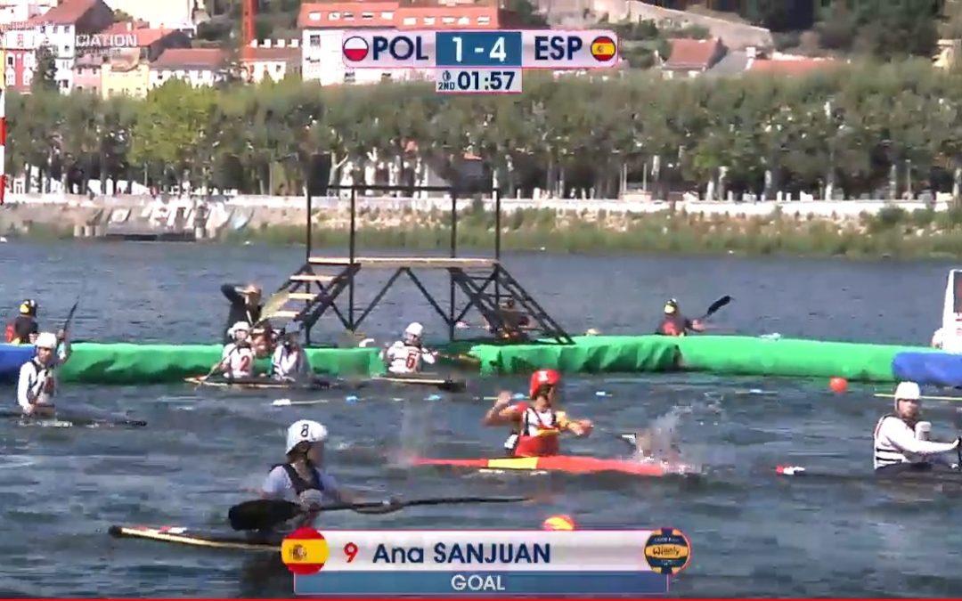 [ACTUALIZADO] Primera jornada del Campeonato Europeo de Kayak Polo que se está celebrando en Coimbra (Portugal)