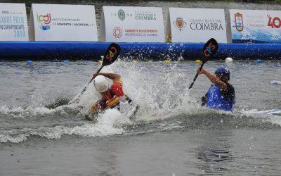 Última jornada del Campeonato Europeo de Kayak Polo, Coimbra (Portugal)