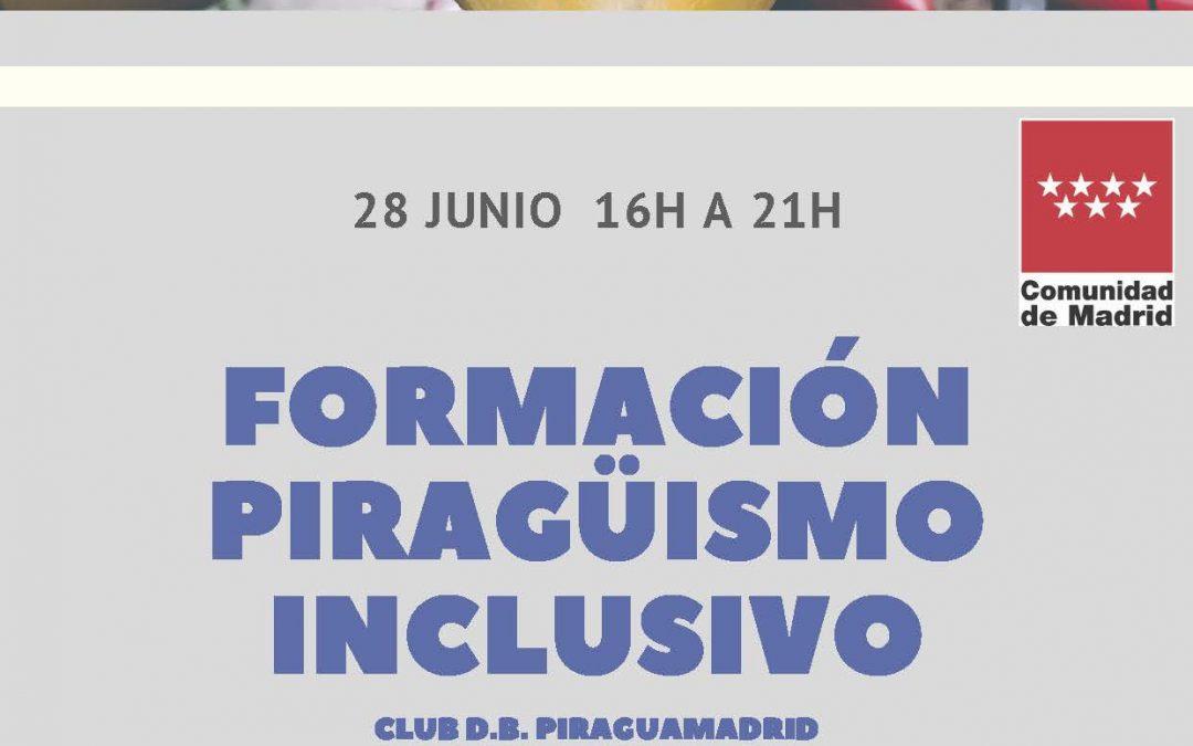 FORMACIÓN PIRAGÜISMO INCLUSIVO (28 junio, 16h a 21h)