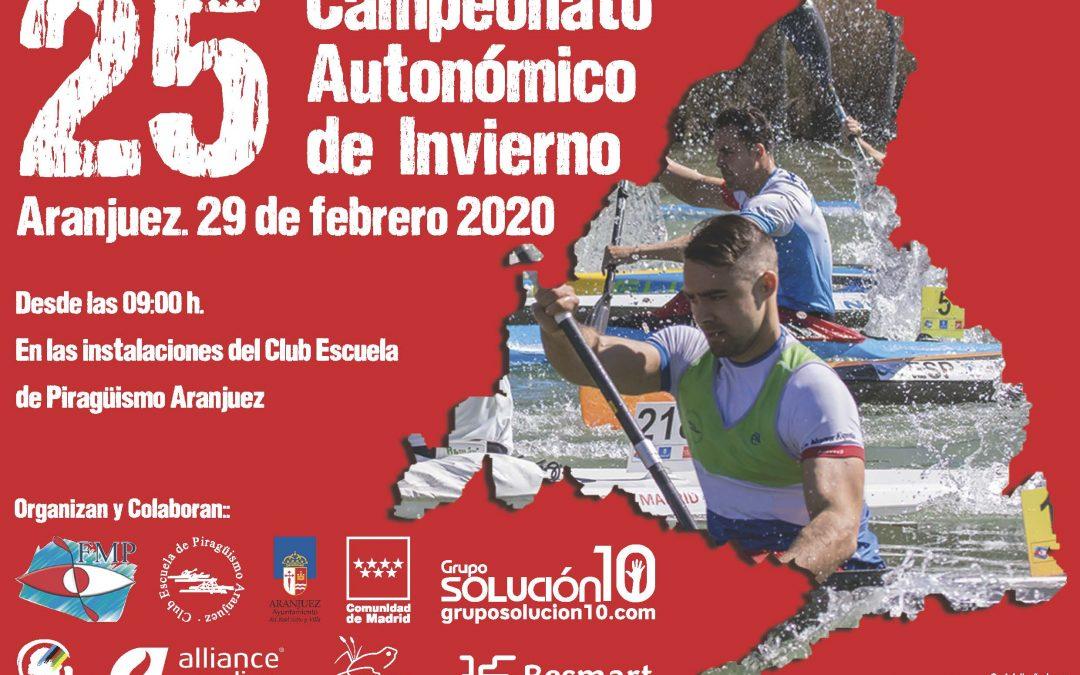XXV CAMPEONATO AUTONÓMICO DE INVIERNO AGUAS TRANQUILAS (abierto)