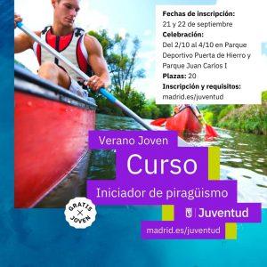 Curso Iniciador Piragüismo 2020 verano